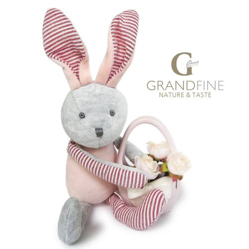 Newborn baby gift velvet rabbit doll with long ears for baby doll parts with EN71 test report and CE