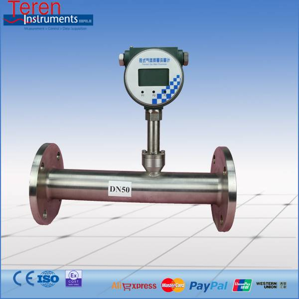 Digital local display thermal gas mass flow meter