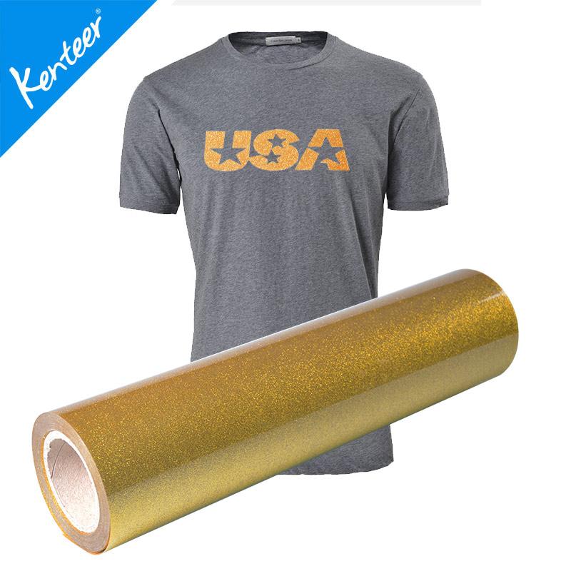 Kenteer heat transfer vinyl glitter for clothing 0.525m one roll