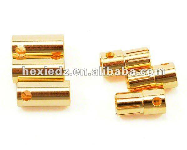 6.5mm Gold Plated Banana Plug / Bullet Connector Male & Female