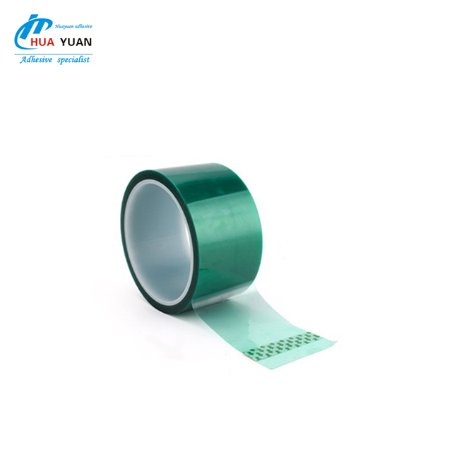 China Wholesale High Adhesion Green Tape PET High Temperature Tape