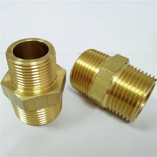 Brass material hex nipple