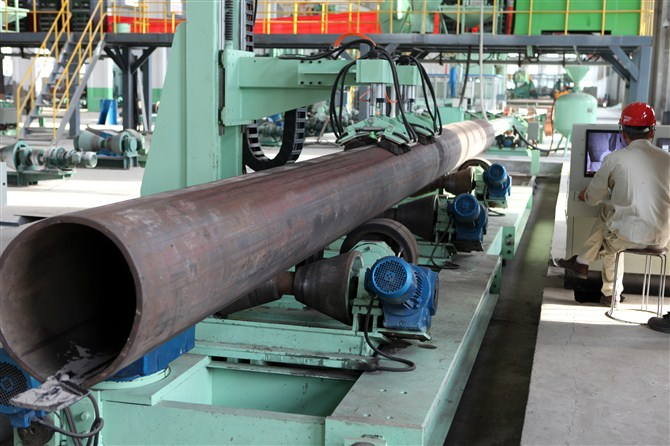 "API 5L PSL2, X60 LSAW Steel Pipe 18"",12.7MM"