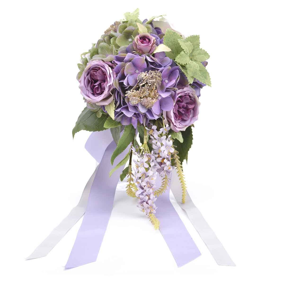 Darleenhome Purple Bride  Bouquet