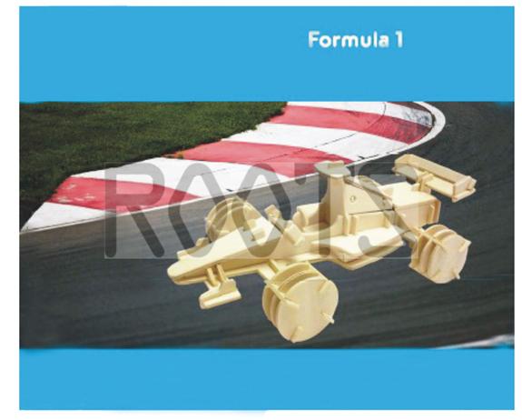 Fomula 1-3d wooden puzzles, wooden construction kit,3d wooden models, 3d puzzle