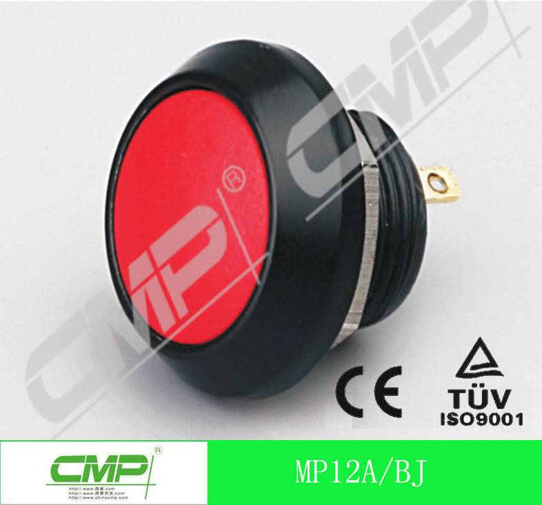 CMP 12mm metal pin terminal waterproof push button switch ip67