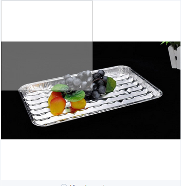 disposable catering aluminum foil tray airline catering food meal tray
