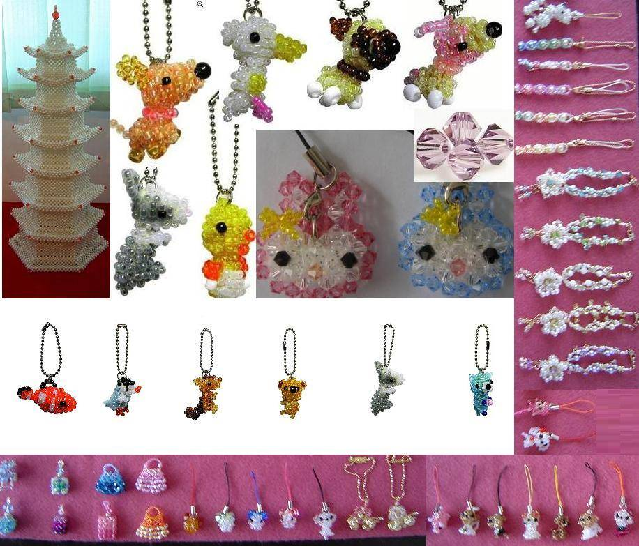Handicraft  pendent  Crystal jewelry beads necklace Earring bracelets brooches beaded bags beads and