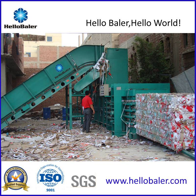 Automatic Baling Press For Paper Recycling Plant