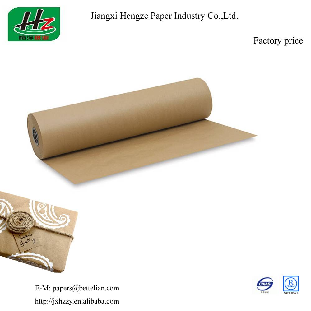 Unbleached uncoated 55gsm packaging kraft paper