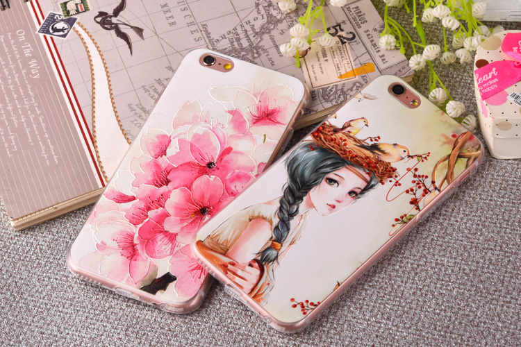 Wholesale Cell Phone Cases TPU Painting Smooth-Surface wear-resistant Anti-Skidding For iPhone 6/6S/