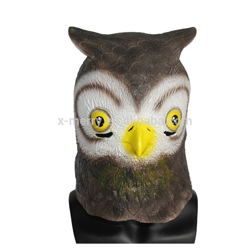 X-MERRY TOY Eco-Friendly Natural Latex Owl Mask Full Head Animal Mask x13066