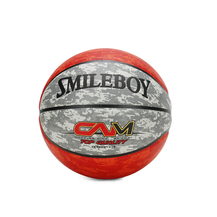 Colored leather basketball with cheap price and OEM service