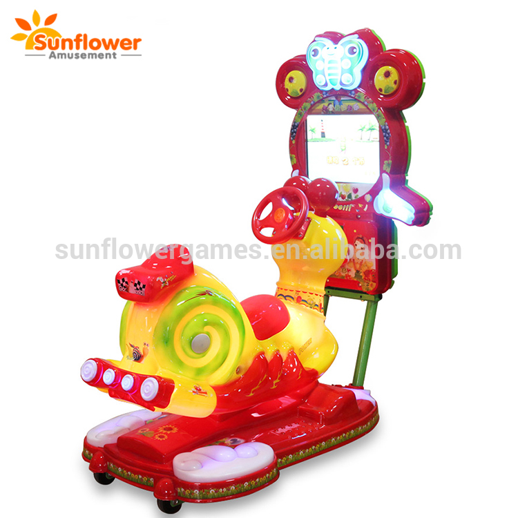 Coin operated music snails video kiddie rides, electronic ride on for small kids