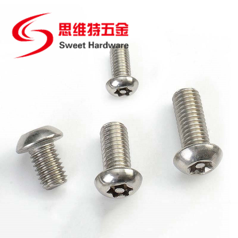 304 stainless steel button head torx pin screw