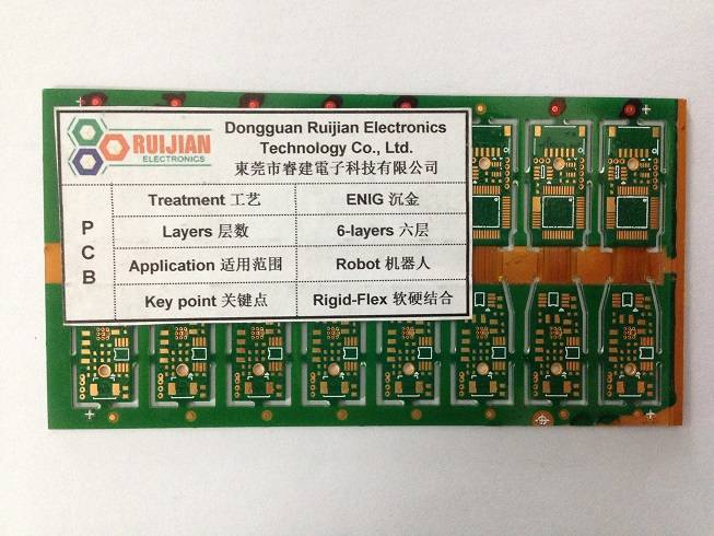 Six-layers-PCB, ENIG, Robot, Flex-rigid PCB