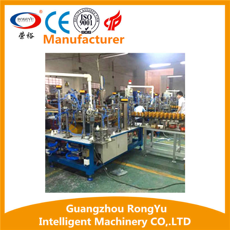 Rotary type LED bulb light semi-automatic assembly line with best price