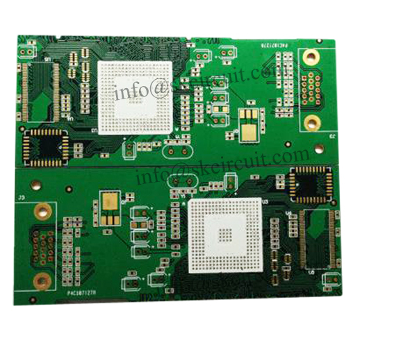 Ball grid array Board FR-4 2.0mm Thick With Via In Pad Applied In Programmable Logic Controller