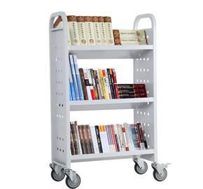Steel Three Layers V-shape Book Cart RCA-3S-LIB15