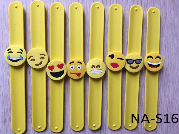 emoji slap band,silicone slap bracelet