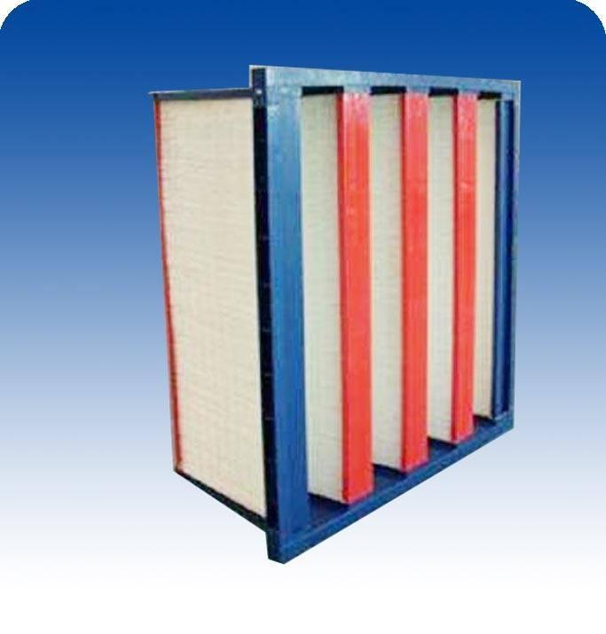 Many V dense pleat type filter