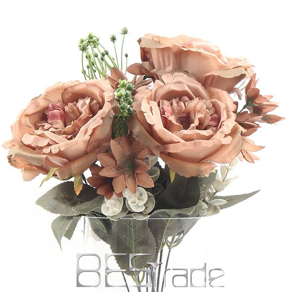 Wholesale artificial silk 9 HEAD branch The rose flowers