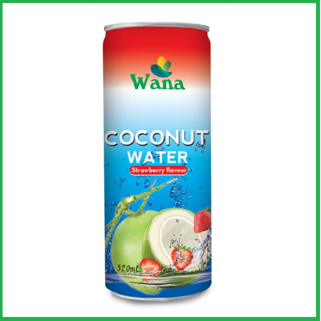 Fresh Coconut water With Strawberry Flavor 320ml