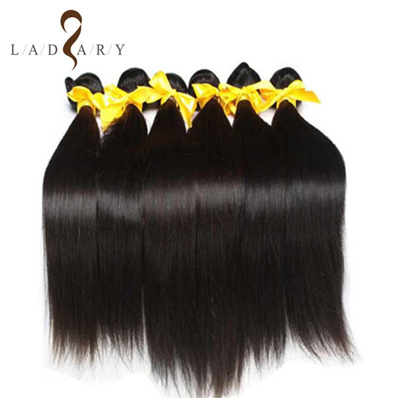 LADAIRY High Qality Spicy Hair 100% Virgin Human Hair Virgin Brazilian Straight Wave, Natural Straig