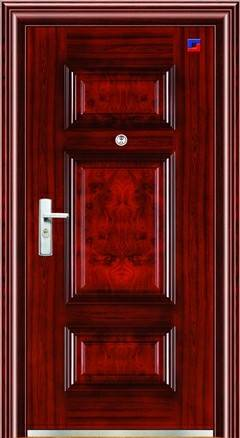Russia style steel door in stock, price-off promotion with good quality