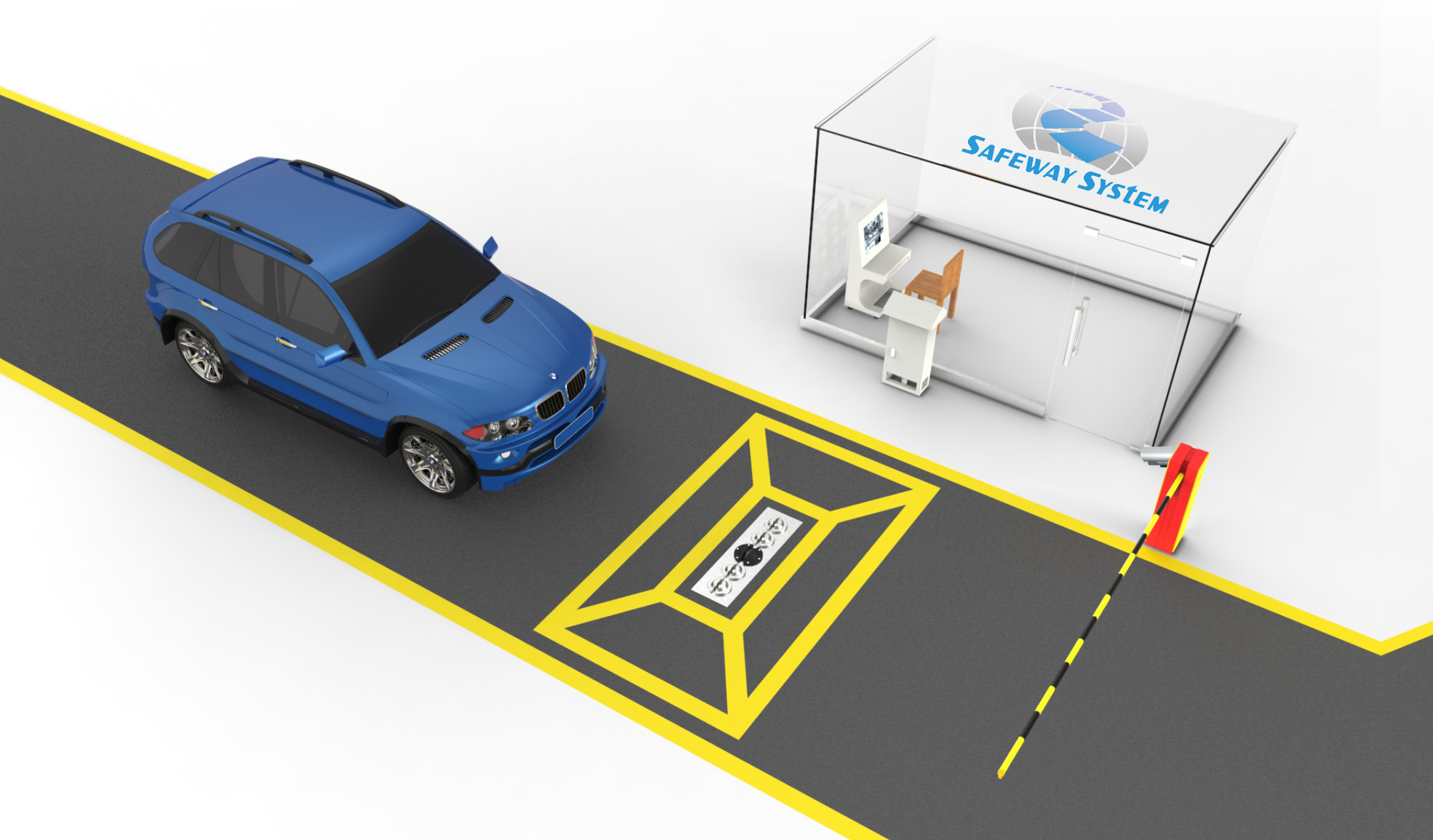 Static Uvss- Under Vehicle Scanner Automatic Car Bottom Safety Inspection System At3300
