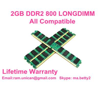 hot sale 2GB DDR2 800MHZ  PC2-6400 all compatible