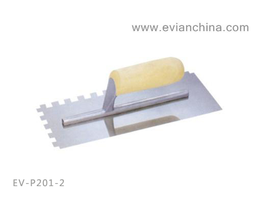 EV-P201-2 Plastering Trowel with Wooden Handle(with tooth)