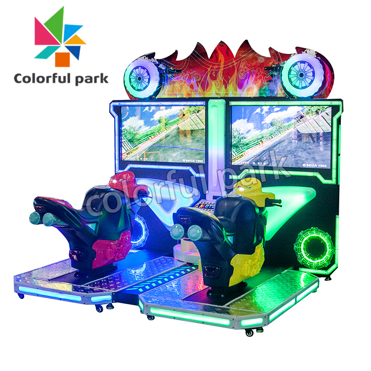 Colorfulpark Tt Motorcycle Driving Simulator Car Racing game machine