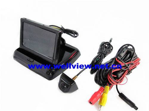 """""""Luxurious Suit"""" Car Reversing Camera Kit with 4.3inch flip down monitor and high quality camera"""