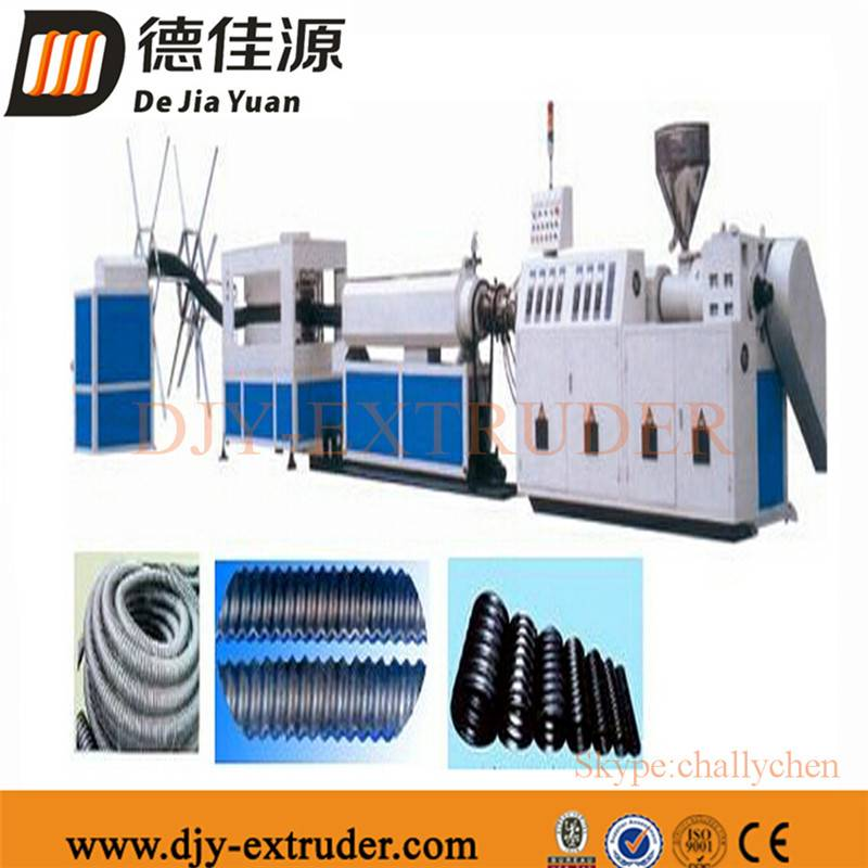 Plastic HDPE corrugated pipe production line