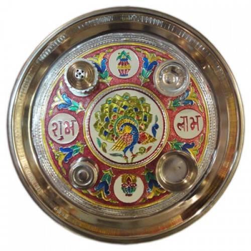 Pooja / Aarti / Shagun Thali (Meenakari)