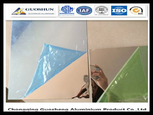 Aluminium Mirror Sheet , Reflector Sheet Different Usage 1050, 1060, 1070 Or As Customer Required