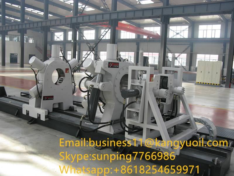 Oilfield equipment hydraulic bucking unit