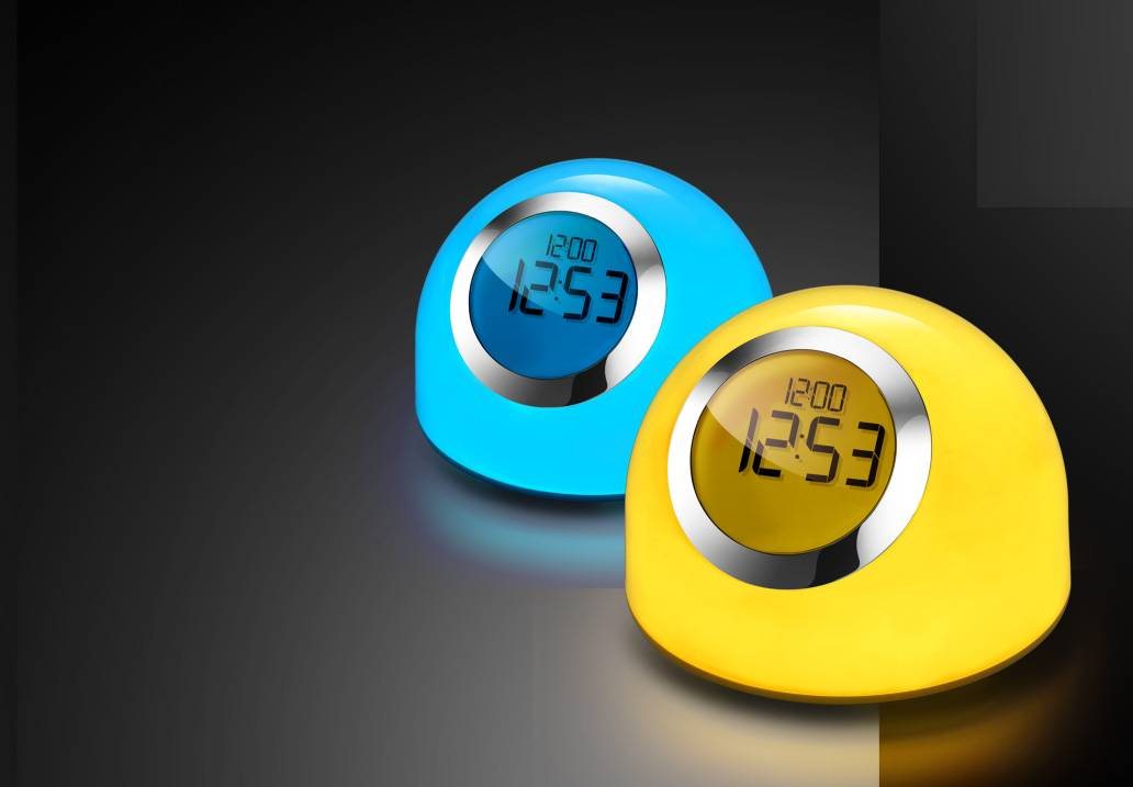 Hot sale LED light with Alarm clock,LED table lamp with clock