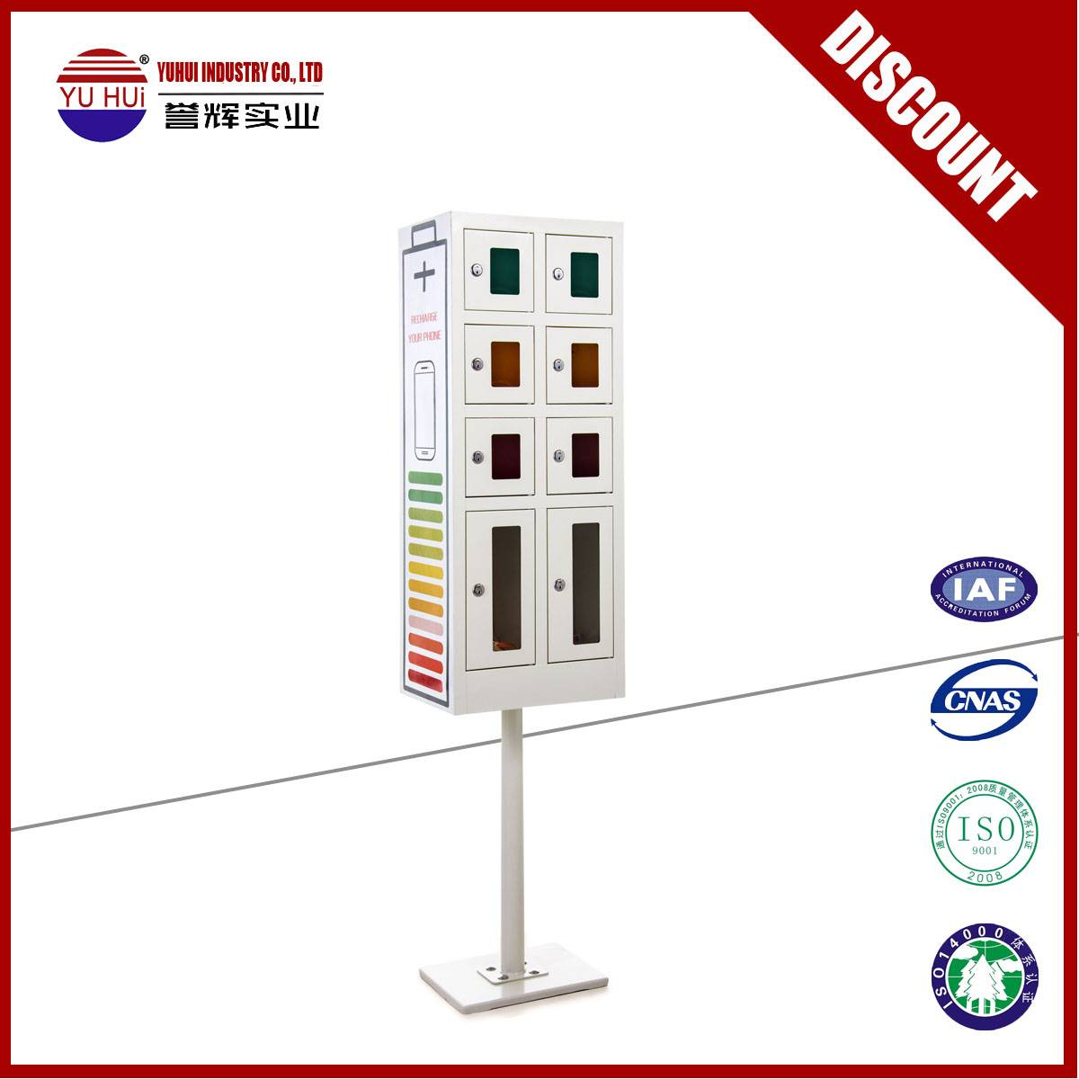public use 8 door cell phone charging box