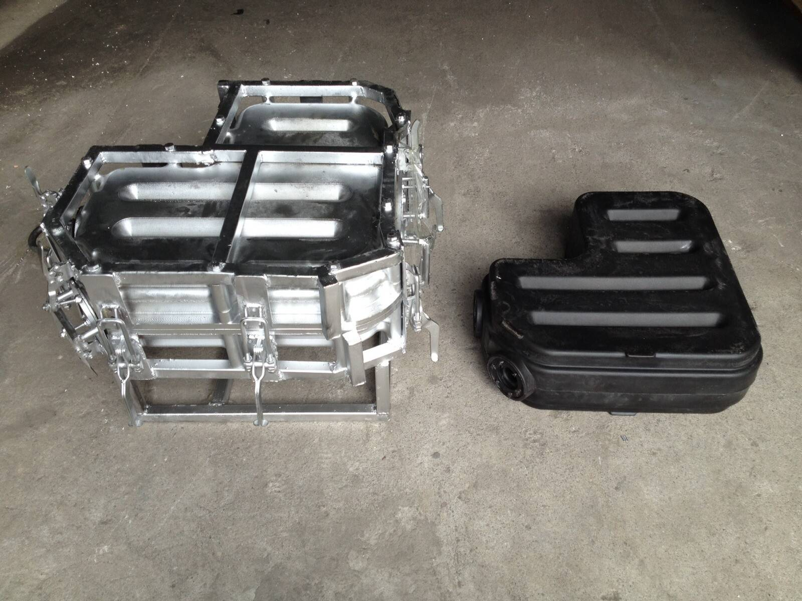 Rotomolding Plastic Oil Tank Mould, CNC Machined Roto Mold, Aluminum Rotational Moulds