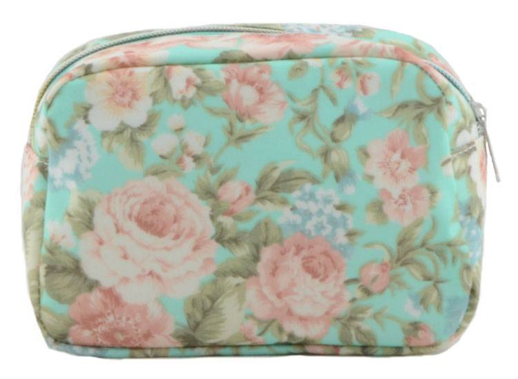 New style floral printing travel cosmetic bag for women