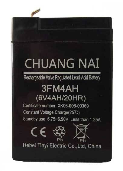 Long life VRLA sealed lead acid battery ups battery  6V4AH