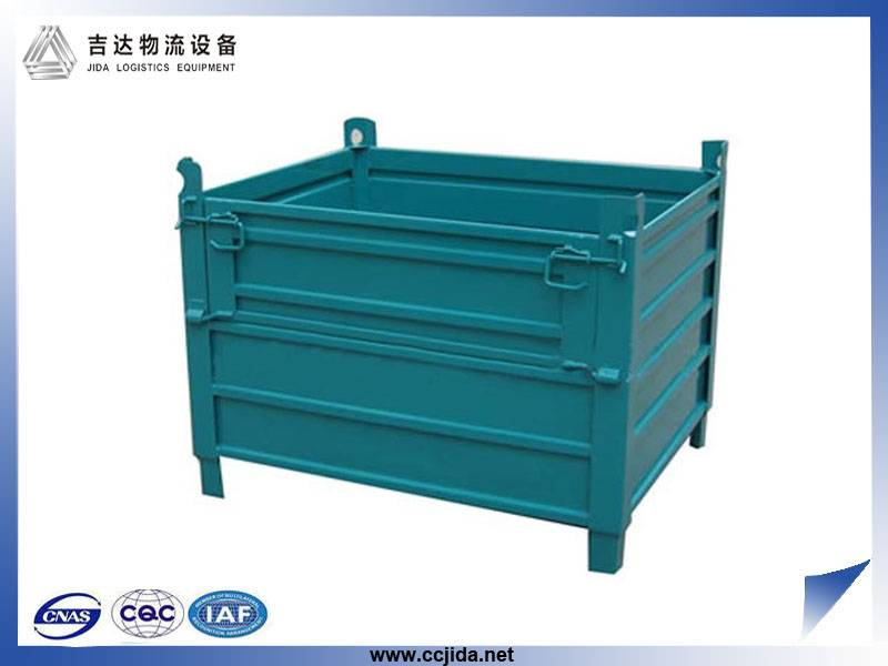 folding steel storage cage for warehouse