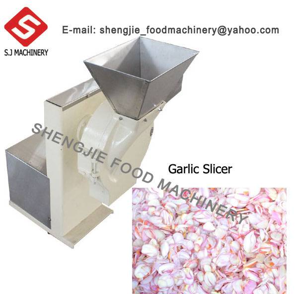 Stainless steel electric small onion shallot garlic slicing machine