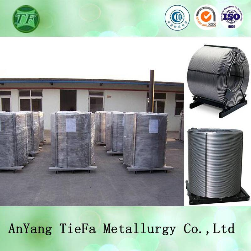 Steelmaking deoxidizer pure calcium cored wire