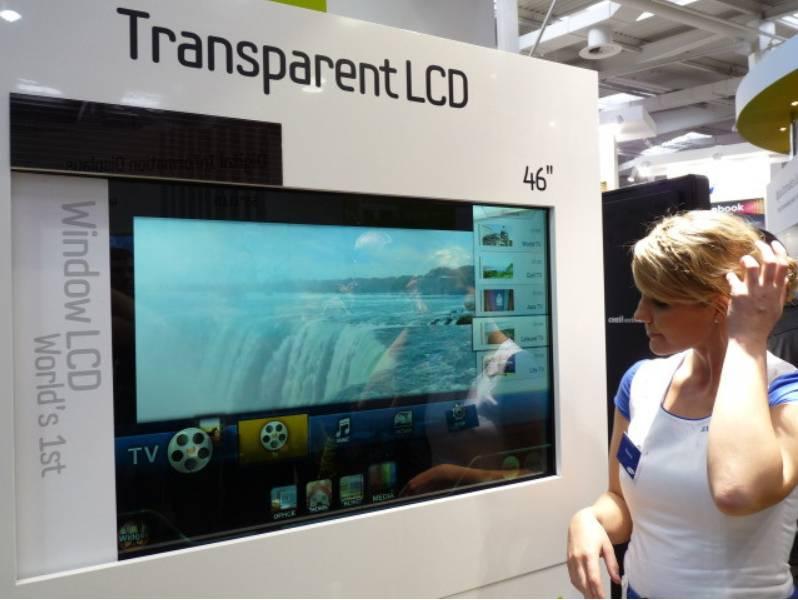 46 inch Samsung transparent LTI460AP01 LCD module,1366 x 768.