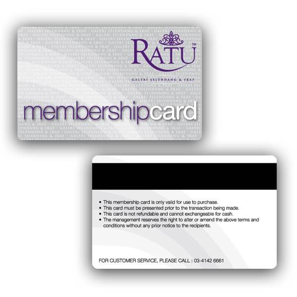 pvc member card with german hico magnet