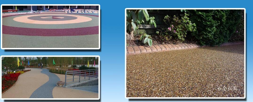 Permeable Sticky stone pavement material