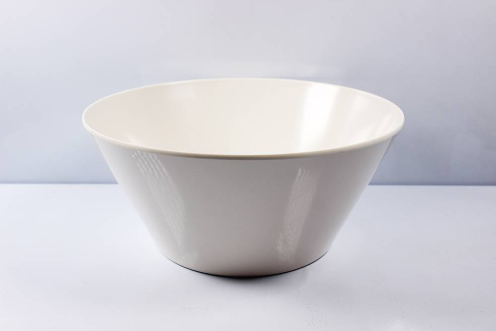 "6'' and 10"" tapered melamine bowl"